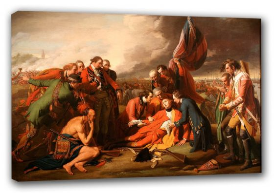 West, Benjamin: The Death of General Wolfe. War/Historical Fine Art Canvas. Sizes: A3/A2/A1 (00111)